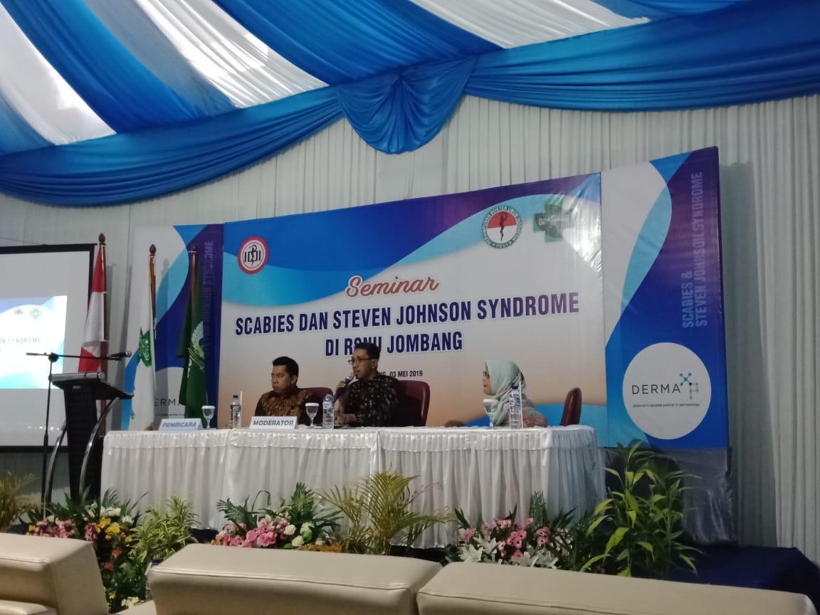 Seminar Scabies di RS NU Jombang.